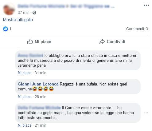 Commenti indignati alla bufala sui cani da tenere in casa a Bugliano