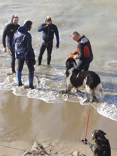 Allenamento del Team Italia di lavoro in acqua